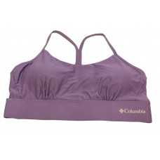 Columbia Women's Cross Back Bra - Low Support 1 Pack, Plum, Large