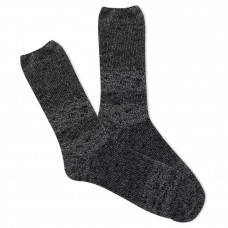 K.Bell Women's Slub Marl Crew Socks 1 Pair, Black Marl, Women's 4-10 Shoe