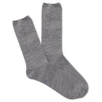 K.Bell Women's Slub Marl Crew Socks 1 Pair, Oxford Grey Marl, Women's 4-10 Shoe