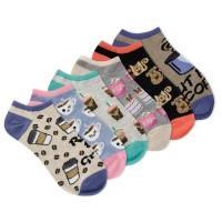 K.Bell Women's Rise & Grind 6 Pair Pack No Show Socks, Assorted, Women's 4-10 Shoe