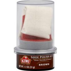 Kiwi Shoe Polish Kit, Brown