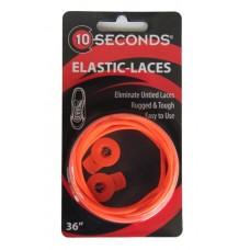 Ten Seconds Elastic Laces, Neon Orange