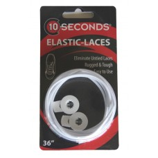 Ten Seconds Elastic Laces, White
