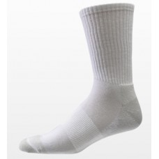 Aetrex Copper Sole Socks, Athletic, Crew, White