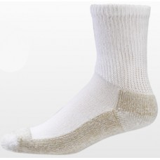 Aetrex Copper Sole Socks, Non-Binding Cushion, Crew, White