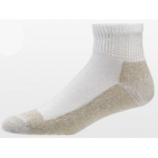Aetrex Copper Sole Socks, Non-Binding Cushion, Ankle, White