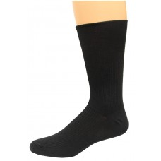 Carolina Ultimate Diabetic Non-Binding Crew Socks 2 Pair, Black, Men's 10-13