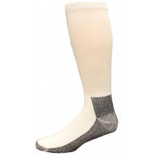 Carolina Ultimate Men's Work Socks 1 Pair, White/Black Sole, Men's 9-13