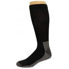 Carolina Ultimate Men's Work Socks 1 Pair, Black/Grey Sole, Men's 12-15