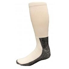 Carolina Ultimate Men's Work Socks 1 Pair, White/Black Sole, Men's 12-15