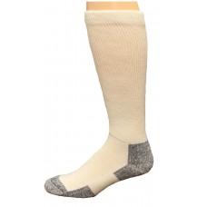 Carolina Ultimate Men's Non-Binding Crew Socks 1 Pair, White, Men's 9-13