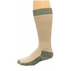 Carolina Ultimate Merino Wool Crew Work Sock 1 Pair, Green/Khaki, Men's 9-13