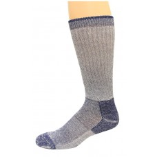 Carolina Ultimate Crew Work Socks 1 Pair, Grey/Navy, Men's 9-13