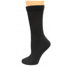 Carolina Ultimate Diabetic Non-Binding Crew Socks 2 Pair, Black, Women's 6-9