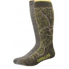 Carolion Ultimate Outdoor Obsession Merino Blend Crew Socks 2 Pair, Dark Brown Camo/Grey, Men's 9-13