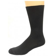 Carolina Ultimate Diabetic Non-Binding Tube Crew Socks 2 Pair, Black, Men's 9-13
