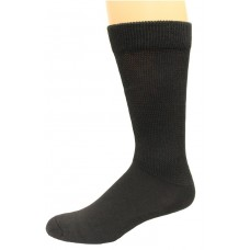 Carolina Ultimate Men's Non-Binding Ultra-Dri Crew Socks 2 Pair, Black, Men's 9-13