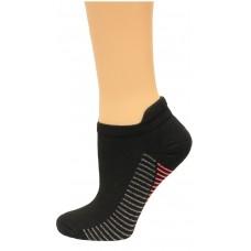 Carolina Ultimate Women's Tab Socks 3 Pair, Black/Pink Stripe, Women's 6-9
