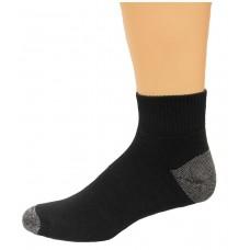 Carolina Ultimate Men's Quarter Work Socks 3 Pair, Black, Men's 9-13