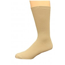 Carolina Ultimate Diabetic Non-Binding Crew Socks 2 Pair, Khaki, Men's 10-13