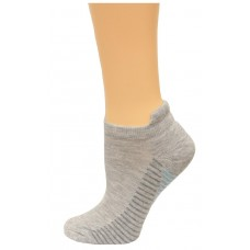 Carolina Ultimate Women's Tab Socks 3 Pair, Grey/Aqua Stripe, Women's 6-9