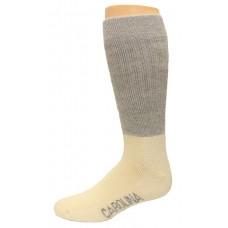Carolina Ultimate Outdoor Obsession Crew Socks 1 Pair, Grey/Natural, Men's 9-13
