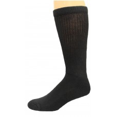 Carolina Ultimate Diabetic Non-Binding Crew Socks 2 Pair, Black, Men's 9-13