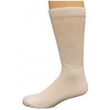 Carolina Ultimate Diabetic Non-Binding Crew Socks 2 Pair, White, Men's  13-16