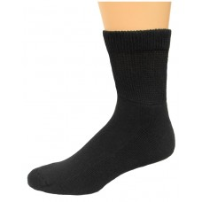 Carolina Ultimate Non-Binding Quarter Socks 2 Pair, Black, Men's 12-16