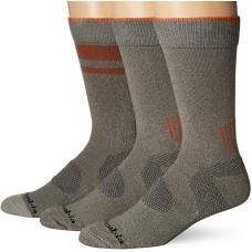 Columbia Balance Point Cotton Crew Sock 3 Pair, M10-13, Charcoal