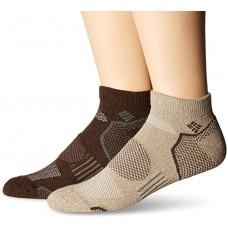 Columbia Balance Point Low Cut Sport Sock 2 Pair, M10-13, Khaki-Brown