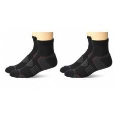 Columbia Balance Point Quarter Sport Sock 2 Pair, M10-13, Black