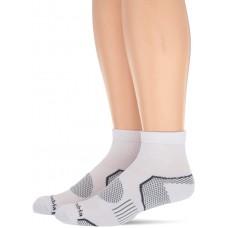 Columbia Balance Point Quarter Sport Sock 2 Pair, M10-13, White