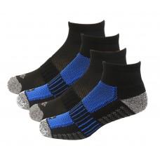 Columbia 1/2 Cushion Quarter Arch Support Poly Blend Sock 6 Pair, M10-13, Black/Blue