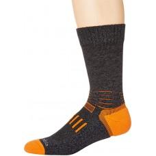 Columbia Adventure Hike Crew Lightweight Socks, Charcoal, Medium Shoe Size Men 6-9 / Women 8-11.5, 1 Pair