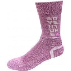 Columbia Adventure Hike Crew Lightweight Socks, Wild Iris, Medium Shoe Size Men 6-9 / Women 8-11.5, 1 Pair