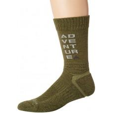 Columbia Adventure Hike Crew Lightweight Socks, Nori, Large Men Shoe Size 10-13, 1 Pair