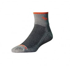 Drymax Maximum Protection Trail Run 1/4 Crew Turndown Socks,  Gray/Orange