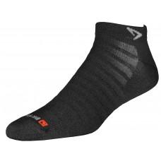 Drymax Run Hyper Thin Mini Crew Socks,  Black