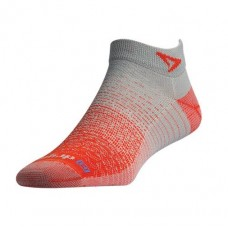 Drymax Thin Running Mini Crew,  Sunburst Orange/Grey