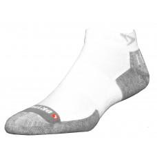 Drymax Tennis Mini Crew Socks,  White/Grey