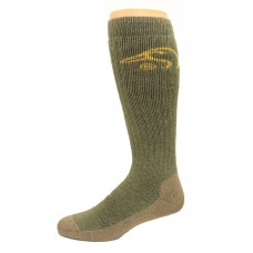 Ducks Unlimited Tall Outdoor Boot Socks, 1 Pair, Olive, Large, W 9-12 / M 9-13