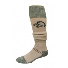Ducks Unlimited Wool Blend Wader Socks, 1 Pair, Tan/Green, Large, W 9-12 / M 9-13