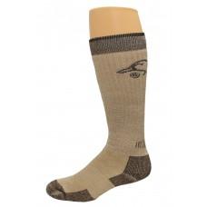 Ducks Unlimited All Season Merino Wool Boot Socks, 1 Pair, Brown, Medium, W 6-9 / M 4-9