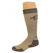 Ducks Unlimited All Season Merino Wool Boot Socks, 1 Pair, Brown, Medium, W 6-9 / M 4-9