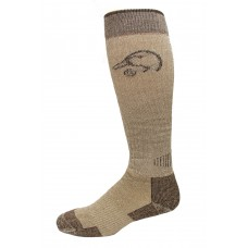 Ducks Unlimited All Season Merino Wool Boot Socks, 1 Pair, Brown, X-Large, M 12-16