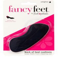 Fancy Feet Back of Heel Cushions, 1 Pair, Black