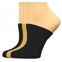 FootGalaxy Premium Clog Socks 3 Pair, Black/Black/Nude