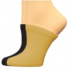 FeetPeople Premium Clog Socks 2 Pair, Nude/Black