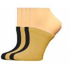 FeetPeople Premium Clog Socks 4 Pair, Nude/Black